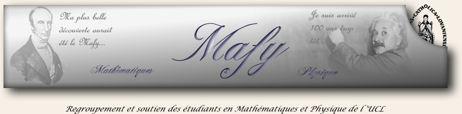 Mafy - Maths/physique UCL