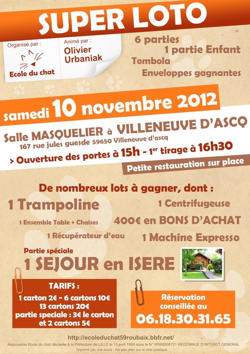 Loto villeneuve d 39 ascq 59 organis au profit de l 39 ecole du chat de roubaix for Comhoraire la poste villeneuve d ascq