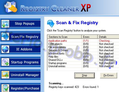registry cleaner xp fr