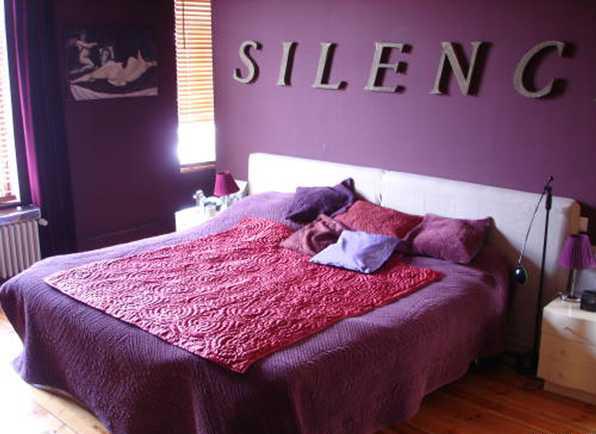 Conseil d co chambre prune et bureau turquoise chocolat - Chambre couleur prune et gris ...
