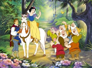 Blanche neige 1937 for Maison des 7 nains
