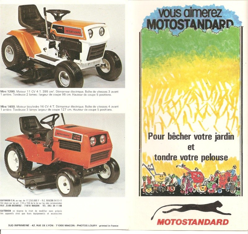 vend tracteur tondeuse motostandard mini 1500. Black Bedroom Furniture Sets. Home Design Ideas