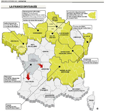 redecoupage regions