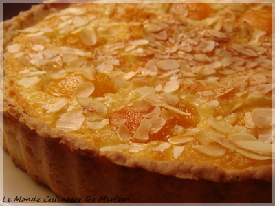 tarte coco - abricot  - le monde culinaire de meriem
