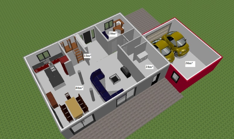 avis plan maison toit terrasse 10 messages. Black Bedroom Furniture Sets. Home Design Ideas