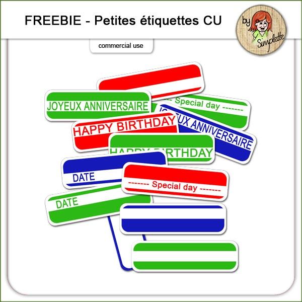 etiquettes labels Scrap With Friends SWF
