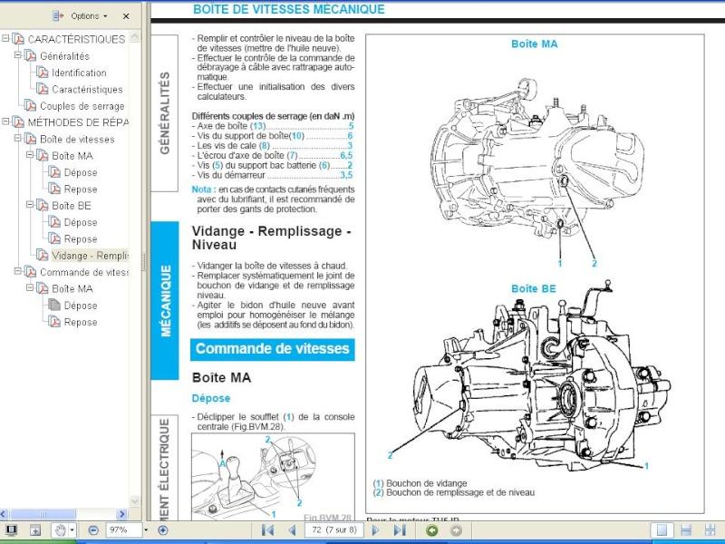 vidange boite vitesse - 207 - peugeot