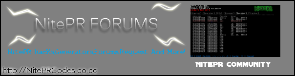 NitePR Code Database & Forums