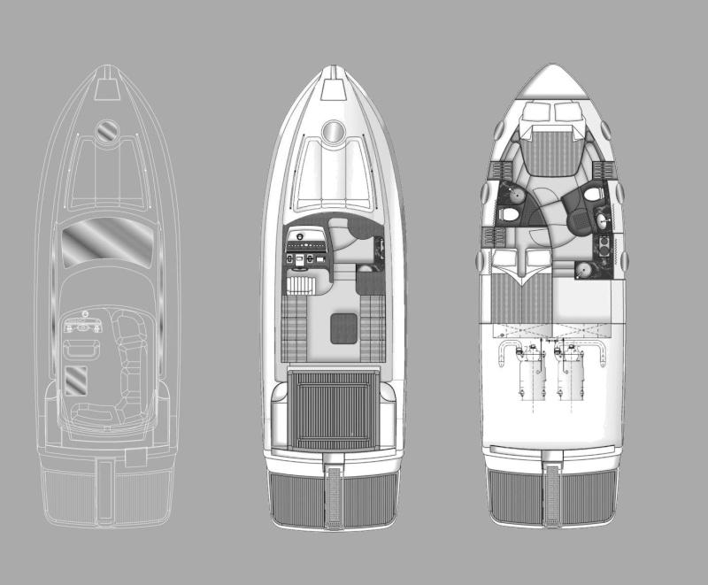 Yacht fly bridge r c wt35 etabeta for Piani di idee per la costruzione di ponti