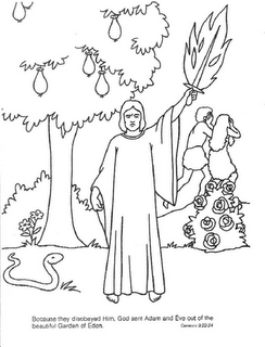 Dibujos biblicos para colorear for Coloring pages adam and eve