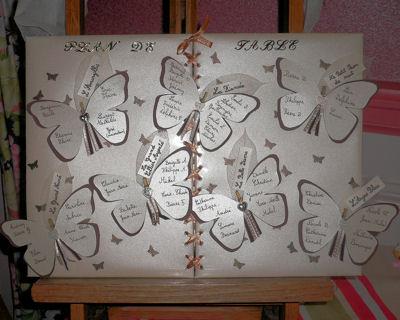 Id es c r monie de mariage - Decoration de table theme papillon ...